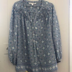 Max Studio Flower blouse size M